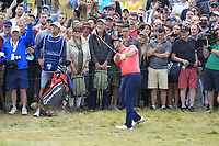 Jon Rahm (ESP) on the 18th during Round 4 of the Irish Open at LaHinch Golf Club, LaHinch, Co. Clare on Sunday 7th July 2019.<br /> Picture:  Thos Caffrey / Golffile<br /> <br /> All photos usage must carry mandatory copyright credit (© Golffile | Thos Caffrey)