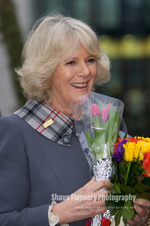 Pix: Shaun Flannery/shaunflanneryphotography.com...COPYRIGHT PICTURE>>SHAUN FLANNERY>01302-570814>>07778315553>>..18th February 2011............HRH The Duchess of Cornwall officially opens the Hasland, Elmton and Ridgeway ward's at Chesterfield Royal Hospital.