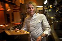 Shannon Bennett,owner and chef of Melbourne's celebrated restaurant Vue De Monde with his signature dish Foie Gras Pot.