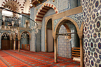 The interior of the Rustem Pasha Mosque, Istanbul, Turkey