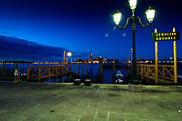 San Giorgio Maggiore, Venice. Early morning reflections and lights..