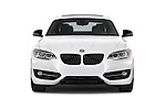 Car photography straight front view of a 2017 BMW 2-Series 230i 2 Door Coupe Front View