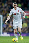 John Lundstram of Sheffield United during the Premier League match at Carrow Road, Norwich. Picture date: 8th December 2019. Picture credit should read: James Wilson/Sportimage
