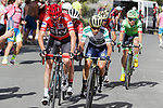 Race leader Chris Froome (GBR) Team Sky and Esteban Chaves (COL) Orica-Scott climb the 22% Alto Xorret de Cat&iacute; during Stage 8 of the 2017 La Vuelta, running 199.5km from Hell&iacute;n to Xorret de Cat&iacute;. Costa Blanca Interior, Spain. 26th August 2017.<br /> Picture: Unipublic/&copy;photogomezsport | Cyclefile<br /> <br /> <br /> All photos usage must carry mandatory copyright credit (&copy; Cyclefile | Unipublic/&copy;photogomezsport)