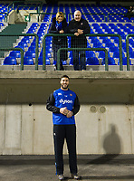 Matt Banahan of Bath Rugby poses for a photo with his parents prior to the match. European Rugby Champions Cup match, between Benetton Rugby and Bath Rugby on January 20, 2018 at the Municipal Stadium of Monigo in Treviso, Italy. Photo by: Patrick Khachfe / Onside Images
