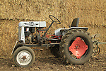 Shavuot celebration in Nahalal, Israeli made 1953 Zaatut 10 tractor on display