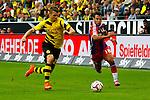 13.08.2014, Signal Iduna Park , Dortmund, GER, DFL-Supercup, Borussia Dortmund vs. FC Bayern Muenchen / M&uuml;nchen, im Bild: Zweikampf zwischen Lukasz Piszczek #26 (Borussia Dortmund) und Juan Bernat #18 (FC Bayern M&uuml;nchen / Muenchen) (v.l.). Aktion, Action Querformat<br /> <br /> Foto &copy; nordphoto / Grimme