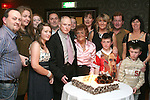 Larry Smith with his family and cake at his 80th in Nano Reids...Photo NEWSFILE/Jenny Matthews.(Photo credit should read Jenny Matthews/NEWSFILE)....This Picture has been sent you under the condtions enclosed by:.Newsfile Ltd..The Studio,.Millmount Abbey,.Drogheda,.Co Meath..Ireland..Tel: +353(0)41-9871240.Fax: +353(0)41-9871260.GSM: +353(0)86-2500958.email: pictures@newsfile.ie.www.newsfile.ie.FTP: 193.120.102.198.