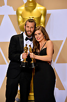 Chris Overton &amp; Rachel Shenton at the 90th Academy Awards Awards at the Dolby Theartre, Hollywood, USA 04 March 2018<br /> Picture: Paul Smith/Featureflash/SilverHub 0208 004 5359 sales@silverhubmedia.com