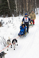 Robert Sorlie w/Iditarider on Trail 2005 Iditarod Ceremonial Start near Campbell Airstrip Alaska SC