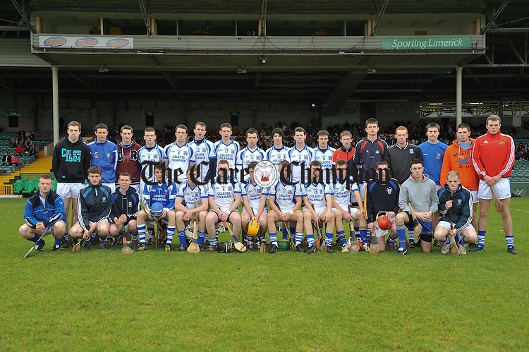 St Flannans team  before the Harty Cup semi-final at the Gaelic Grounds, Limerick. Photograph by John Kelly.