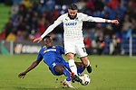 Getafe CF's Djene Dakoman (l) and FC Krasnodar's Wanderson Maciel during UEFA Europa League match. December 12,2019. (ALTERPHOTOS/Acero)