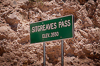 Sitgreaves pass is located on Route 66 between Kingman and Oatman Arizona and rises to an elevation of 3550 feet as he crosses the black man's.  The past was so steep that some cars were unable to drive up the past forward due to gravity the fuel tanks located in the rear so they were forced to back up the pass. The pass was named after Captain Lorenzo Sitgreaves who originally mapped and documented the route.
