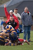 Karaka supporters celebrate as S. Piutau scores the game clinching try late in the second half. Counties Manukau Rugby Union Premier round 7  game between Patumahoe & Karaka played at Patumahoe on May 26th 2007. Karaka led 5 - 3 at halftime and went on to win 12 - 3.