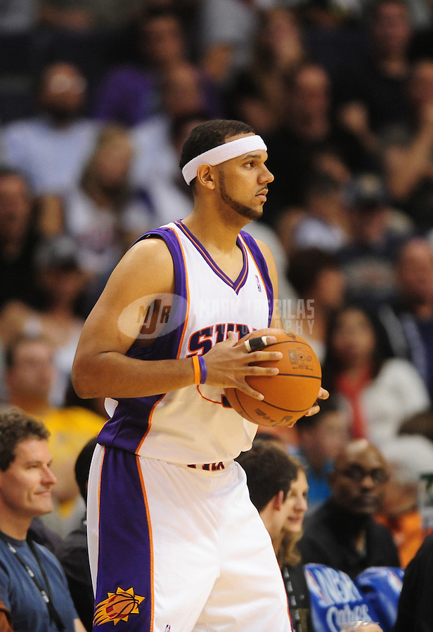 Nov. 11, 2009; Phoenix, AZ, USA; Phoenix Suns forward (3) Jared Dudley against the New Orleans Hornets at the US Airways Center. Phoenix defeated New Orleans 124-104. Mandatory Credit: Mark J. Rebilas-
