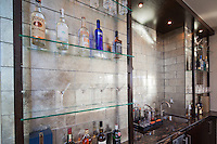 Stock photo of residential wet bar in ultra modern luxury home