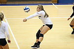 DURHAM, NC - SEPTEMBER 01: Northwestern's Sarah Johnson. The Northwestern University Wildcats played the University of South Carolina Gamecocks on September 1, 2017 at Cameron Indoor Stadium in Durham, NC in a Division I women's college volleyball match. Northwestern won 3-1 (13-25, 25-18, 25-18, 25-19).