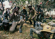 November 10-11, 1975, Luanda, Angola --- The Popular Movement for the Liberation of Angola (MPLA) militia in Luanda. Upon independence from Portugal in 1975, Luanda came under the one-party rule of MPLA. --- Image by © JP Laffont