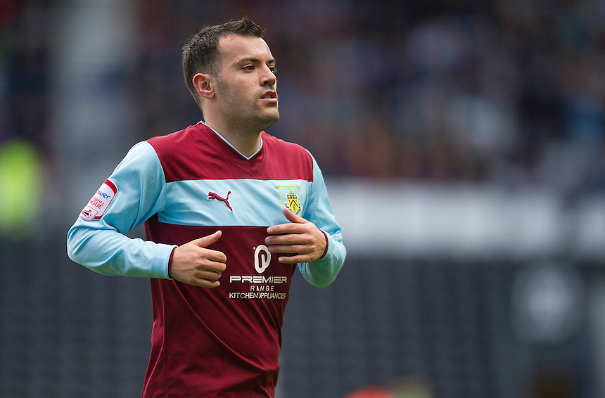 Burnley's Ross Wallace ..Football - npower Football League Championship - Derby County v Burnley - Saturday 22nd September 2012 - Pride Park - Derby..