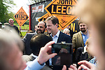 © Joel Goodman - 07973 332324 . 01/05/2015 . Manchester , UK . Nick Clegg poses for photos with party supporters after a Liberal Democrat party rally at Chorlton-cum-Hardy Golf Club . Liberal Democrat party leader Nick Clegg visits the constituency of Manchester Withington to deliver a speech on the NHS and campaign with local candidate John Leech . Photo credit : Joel Goodman