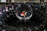 """April 30, 2016, Chiba, Japan - Japan's telecommunication giant NTT displays a 3D image of a goldfish in a glass ball, which is projected images from 48 smartphones during the Niconico Chokaigi in Chiba on Saturday, April 30, 2016. Thousands of visitors enjoyed over 100 booths including games, hobbies, sports, politics as well as Japan's sub cultures at the two-day offline meeting sponsored by Japan's video sharing website """"Niconico Douga"""".  (Photo by Yoshio Tsunoda/AFLO) LWX -ytd-"""