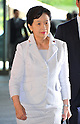 September 2, 2011, Tokyo, Japan - Yoko Komiyama, appointed as minister of Health, Labor and Welfare, arrives at Kantei, prime ministers official residence, in Tokyo on Friday, September 2, 2011. Japans new Prime Minister Yoshihiko Noda has appointed his first cabinet ministers, picking up younger and relatively unknown members of his ruling Democratic Party of Japan into some key positions. (Photo by Natsuki Sakai/AFLO)