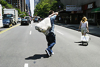 Players for the United States Homeless World Cup team in New York City on July 7, 2004.