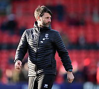 Lincoln City manager Danny Cowley during the pre-match warm-up<br /> <br /> Photographer Chris Vaughan/CameraSport<br /> <br /> The EFL Sky Bet League Two - Lincoln City v Northampton Town - Saturday 9th February 2019 - Sincil Bank - Lincoln<br /> <br /> World Copyright &copy; 2019 CameraSport. All rights reserved. 43 Linden Ave. Countesthorpe. Leicester. England. LE8 5PG - Tel: +44 (0) 116 277 4147 - admin@camerasport.com - www.camerasport.com