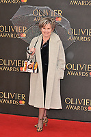 Imelda Staunton at the Olivier Awards 2018, Royal Albert Hall, Kensington Gore, London, England, UK, on Sunday 08 April 2018.<br /> CAP/CAN<br /> &copy;CAN/Capital Pictures<br /> CAP/CAN<br /> &copy;CAN/Capital Pictures