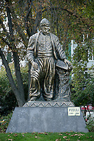 Statue of Fuzuli, the Ottoman poet Muhammad bin Suleyman, in Bebek park, istanbul, Turkey