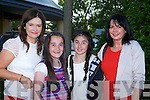 Caroline Walsh, Aoife Walsh, Jane Lawlor, Mary Lawlor at the Nathan Carter concert in the Dome on Thursday