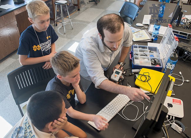 Jul. 10, 2014; Sensing the Cosmos camp, College of Science, summer 2014.<br /> <br /> Photo by Matt Cashore/University of Notre Dame