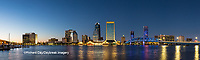 63412-01009 St. Johns River and Jacksonville Florida skyline at twilight Jacksonville, FL