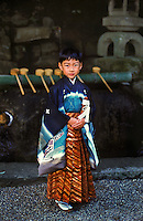 Boy in traditional kimono, Yamanobe, Japan 2005 (R)