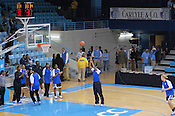 The Duke Blue Devils warm up prior to their second Carlyle Cup match-up. (Photo by Rob Rowe)
