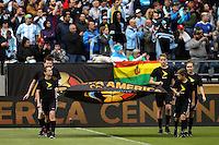 Seattle, WA - Tuesday June 14, 2016: Flag Kids during a Copa America Centenario Group D match between Argentina (ARG) and Bolivia (BOL) at CenturyLink Field.