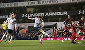 04.03.2015.  London, England. Barclays Premier League. Tottenham Hotspur versus Swansea City. Tottenham Hotspur's Ryan Mason scores to make it 2-1.