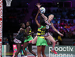Fast5 2017<br /> Fast 5 Netball World Series<br /> Hisense Arena Melbourne<br /> Match <br /> Sth Arica v Jamaica<br /> Sanne -Marie Pienaar<br /> <br /> <br /> <br /> Photo: Grant Treeby