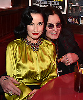 "HOLLYWOOD - FEBRUARY 20: Dita Von Teese attends Ozzy Osbourne global tattoo and album listening party to celebrate his new album ""Ordinary Man"" on February 20, 2020 in Hollywood, California. (Photo by Lionel Hahn/Epic Records/PictureGroup)"
