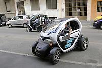 - Milano, esposizione dimostrativa di auto elettriche &quot;Elettrocity&quot;<br /> <br /> - Milan, demonstrative exhibition  of electric cars &quot;Elettrocity&quot;