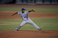 AZL Mariners starting pitcher Yohanse Morel (40) delivers a pitch during an Arizona League game against the AZL Royals at Peoria Sports Complex on July 25, 2018 in Peoria, Arizona. The AZL Mariners defeated the AZL Royals 5-3. (Zachary Lucy/Four Seam Images)