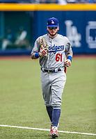Alex Verdugo.<br /> <br /> Acciones del partido de beisbol, Dodgers de Los Angeles contra Padres de San Diego, tercer juego de la Serie en Mexico de las Ligas Mayores del Beisbol, realizado en el estadio de los Sultanes de Monterrey, Mexico el domingo 6 de Mayo 2018.<br /> (Photo: Luis Gutierrez)