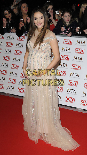 LONDON, ENGLAND - JANUARY 21: Jacqueline Jossa attends the National TV Awards 2015, The O2 Arena, Millennium Way, Peninsula Square, Greenwich, on Wednesday January 21, 2015 in London, England, UK. <br /> CAP/CAN<br /> &copy;Can Nguyen/Capital Pictures