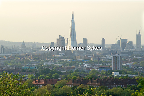 City of London skyline The Shard and St Pauls cathedral.