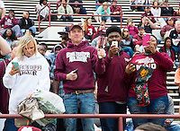 Super Bulldog Weekend Maroon &amp; White Game: fans in stands.<br />