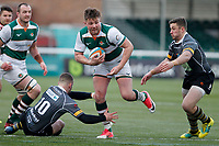 Harry Sloan of Ealing Trailfinders breaks for the line during the Championship Cup Quarter Final match between Ealing Trailfinders and Nottingham Rugby at Castle Bar , West Ealing , England  on 2 February 2019. Photo by Carlton Myrie / PRiME Media Images.