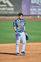 Brandon Lewis (47) of the Ogden Raptors during the game against the Idaho Falls Chukars at Lindquist Field on August 9, 2019 in Ogden, Utah. The Raptors defeated the Chukars 8-3. (Stephen Smith/Four Seam Images)