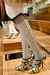 Petra Samovar shoes shown at the Catherine Martin and Muccia Prada Dress Gatsby display at Prada store in SOHO, NYC May 4, 2013.