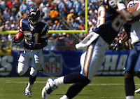 Sept. 17, 2006; San Diego, CA, USA; San Diego Chargers running back (21) LaDainian Tomlinson against the Tennessee Titans at Qualcomm Stadium in San Diego, CA. Mandatory Credit: Mark J. Rebilas