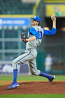 Kentucky Wildcats starting pitcher Sean Hjelle (30) in action against the Houston Cougars in game two of the 2018 Shriners Hospitals for Children College Classic at Minute Maid Park on March 2, 2018 in Houston, Texas.  The Wildcats defeated the Cougars 14-2 in 7 innings.   (Brian Westerholt/Four Seam Images)